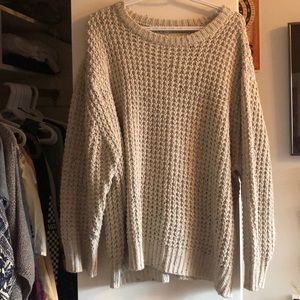 cream/white knit sweater